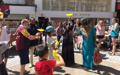 Hope Not Hate - Leeds city centre street event.