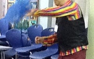 Scarf Juggling - Eastoft Primary School, Circus Skills Workshop.