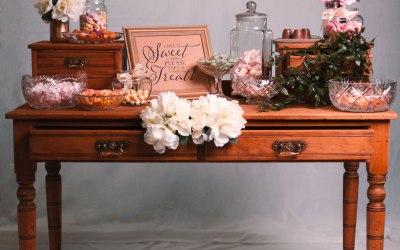 VIntage Writers Desk as Sweet Station
