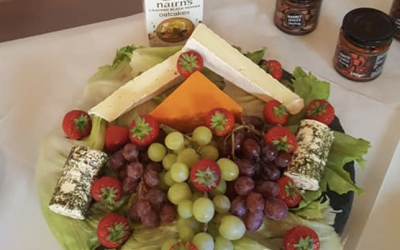 Cheese and fruit grazing buffet