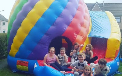 Candy Twist dome Hire glasgow  https://www.splashinflatables.com/category/bouncy-castles/29/candy-twist-disco-dome-with-slide#BodyContent