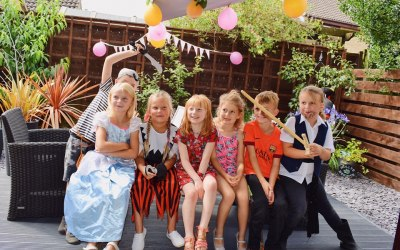 Princess & Pirate themed party (posted with permission)