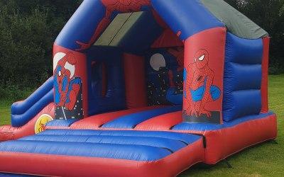 Spiderman castle with slide
