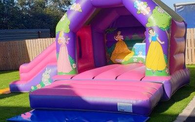 Disney princess castle and slide