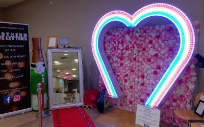 GIANT LED HEART + FLOWER WALL