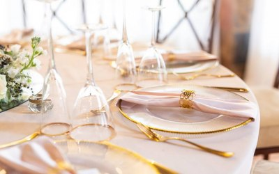 Gold Tableware to take your event to the next level.