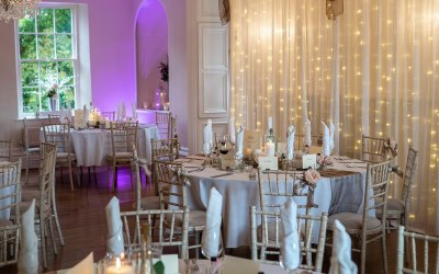 Backdrops, uplighters and centrepieces.
