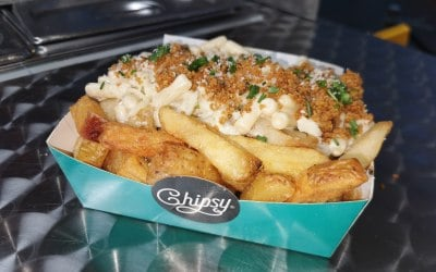 Return of the MAC! - gourmet mac and cheese with triple fried chips