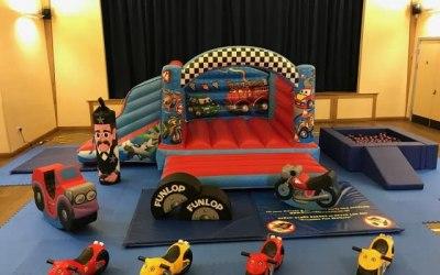 Transport Themed Bouncy Castle