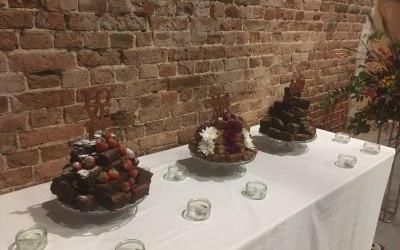Wedding Catering - Brownie Wedding Cake