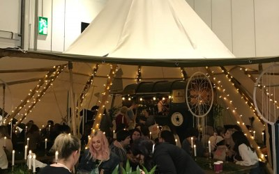 Yes, we fit inside a tipi. At the National Wedding Show