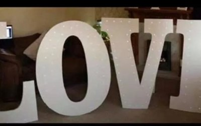 Our handmade, free standing LOVE letters