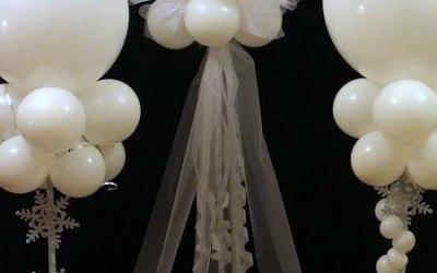 Weddngs Columns Jumbo Balloons