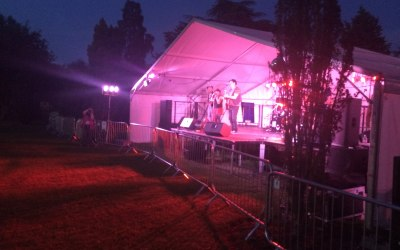 Local festival, stage, lighting, PA Systems, Sound, Instruments