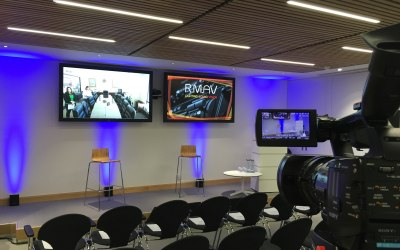 Multi-site Video Conferencing, Cameras, Filming, HD Screens, PA systems