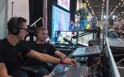 Full AV crew, equipment and stage provided by us at Comic Con in 2018