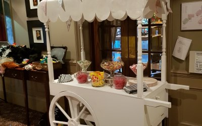 Sweet cart and Chocolate Fountains
