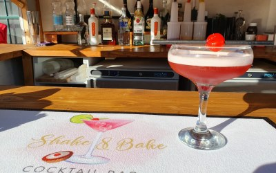 Our cherry bakewell cocktail