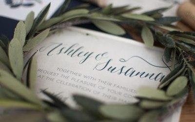 Tuscan elegant wedding invitations