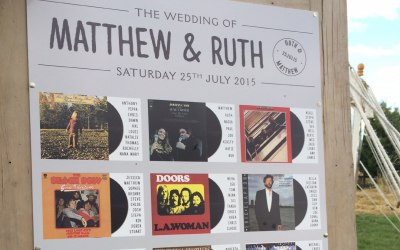 Best selling table plan featuring album covers