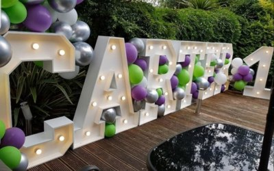 4ft light up letters and Balloons,full alphabet available