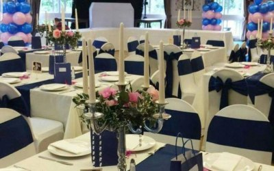 Full venue dressing and balloon decorations available