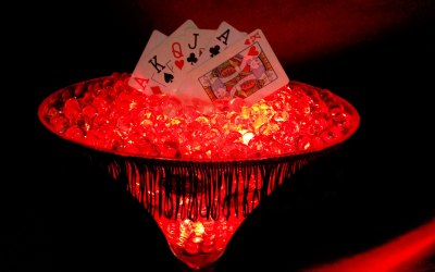 Casino Themed Table Centre Pieces for Hire in Stevenage, Hertfordshire