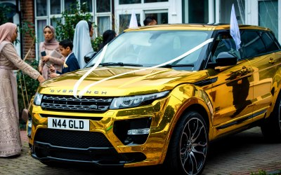 Gold Range Rover Angle