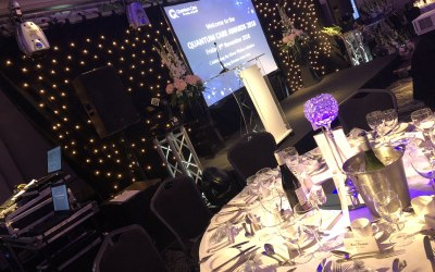 Awards Package: Inc Stage, Backdrop, Rear Projector. Lighting, Surround Sound and and Lectern