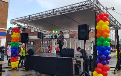 Our floating roof stage in action