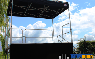 Popup gazebo stages are quick and easy to set up