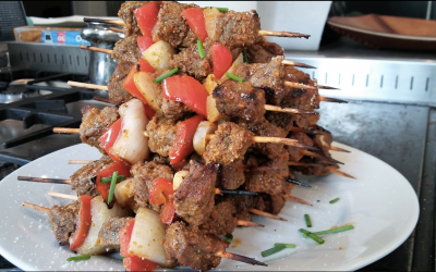 Beef Kebabs filled with flavours and spices