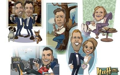 Nuff Inc. Caricatures 2
