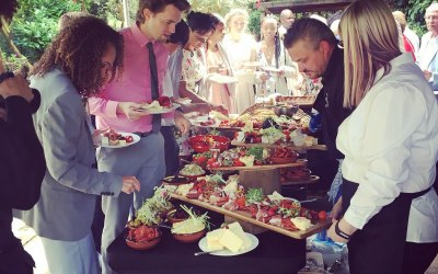 The Anitpasti Being Served From Our Wedding Menu
