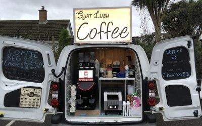 Pop up coffee and churro van