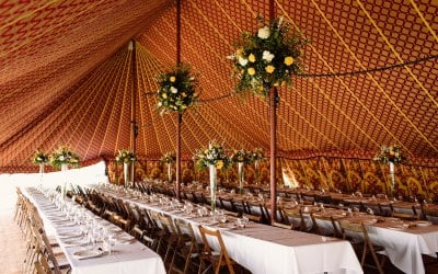 Each of our tents feature opulent linings.