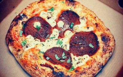 Vegan Pepperoni Sourdough Pizza
