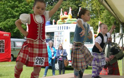 Young contestants compete at the Pipes in the Park festival in Colchester