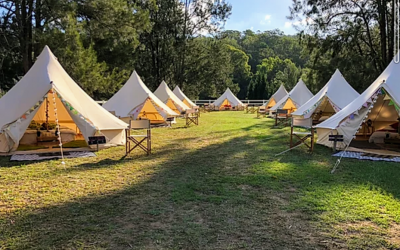 A bell tent village for a Wedding