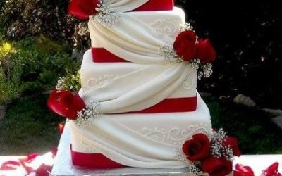 Red & White Swags & Roses