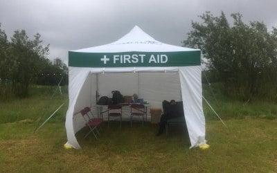 First Aid Gazebo Hire