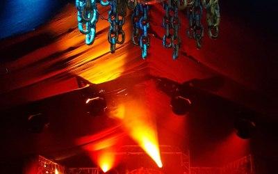Planet gold decor Fogger's mill Boomtown fair festival