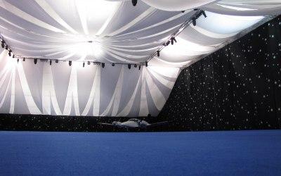 Planet gold decor white sails and black starts Kidlington aerodrome