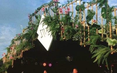 Planet gold decor stage decoration SW7s festival Bristol