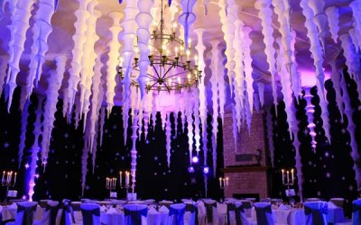 Planet gold decor ice palace dinner Manor house hotel Castle combe