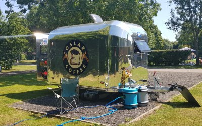 Our Airstream Trailer at a Campsite