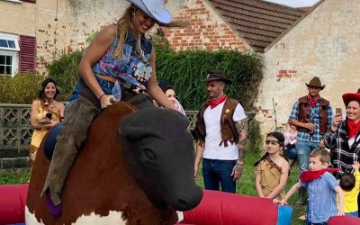 Country party with Boris the Bull