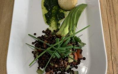 Puy Lentil and Avacado salad
