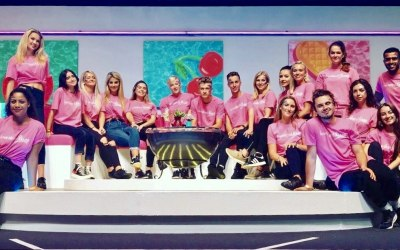 Some of our Staff at Love Island Live