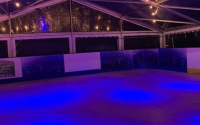 Full colour wash, festoon and marquee provided by Events ML